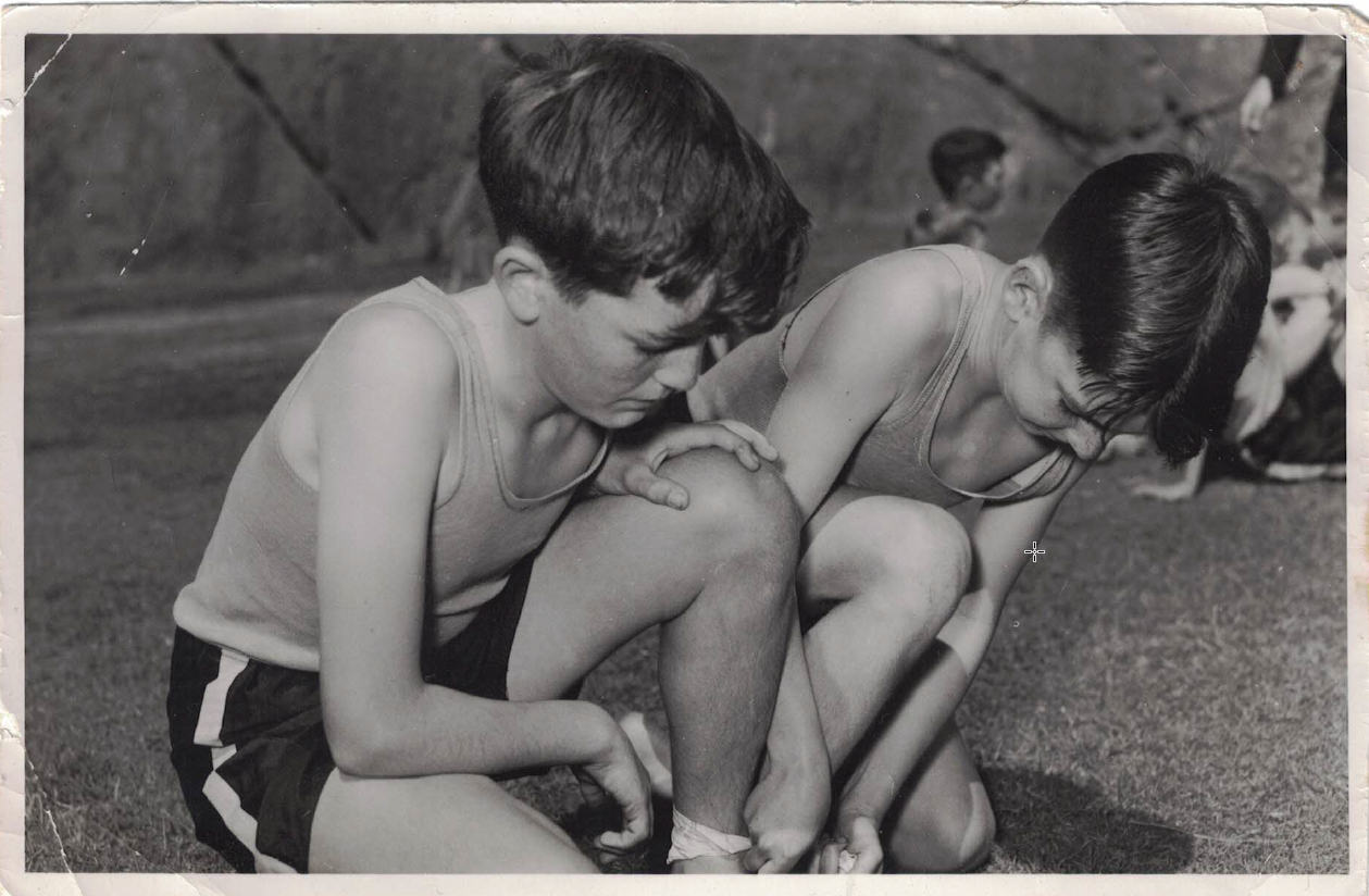 1953 3-Legged Race Jim O'Brien and Mike McNamara